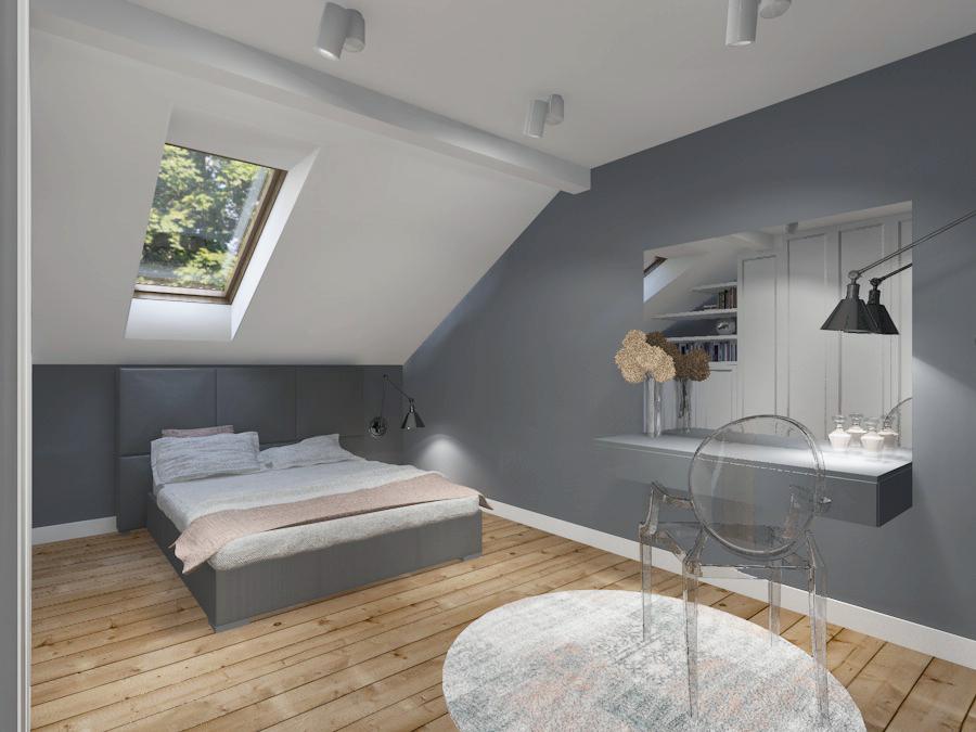 Sypialnia Na Poddaszu Projekt Koncepcyjny
