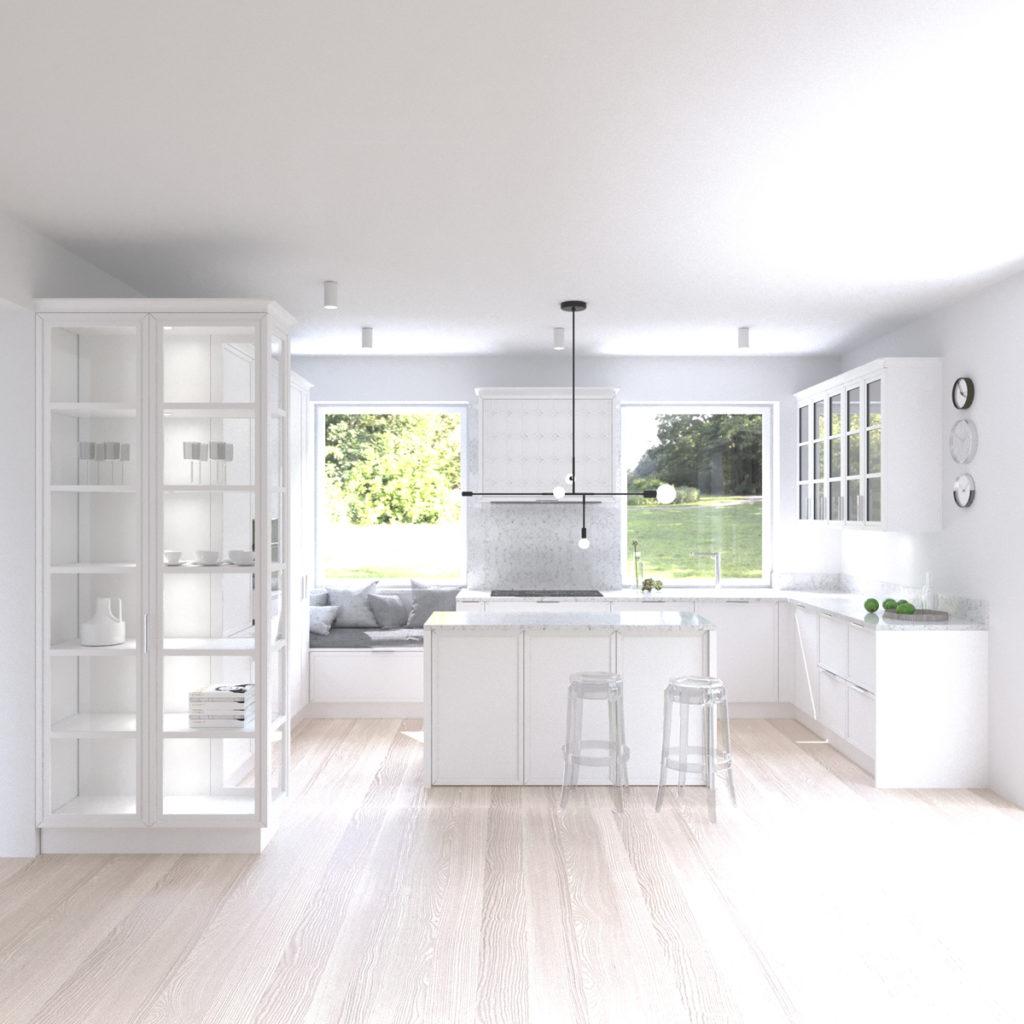 Projekt Białej Kuchni W Stylu Klasycznym